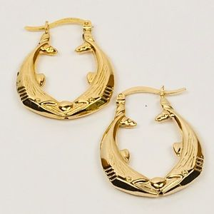 Dolphins Hoops 14Kt Gold filled Earrings